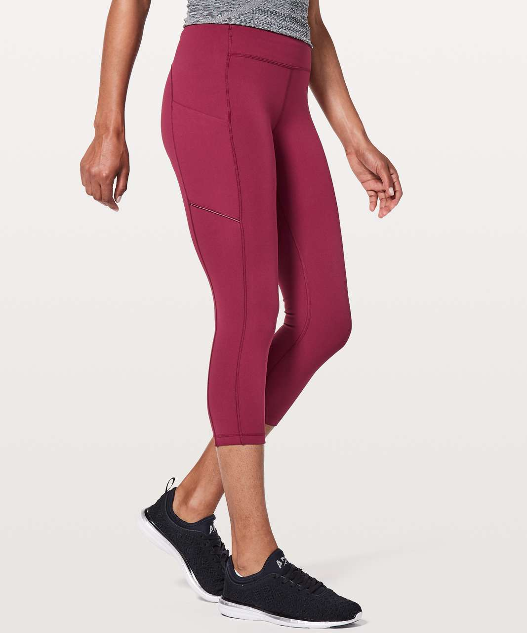 "Lululemon Speed Up Crop *21"" - Ruby Wine"