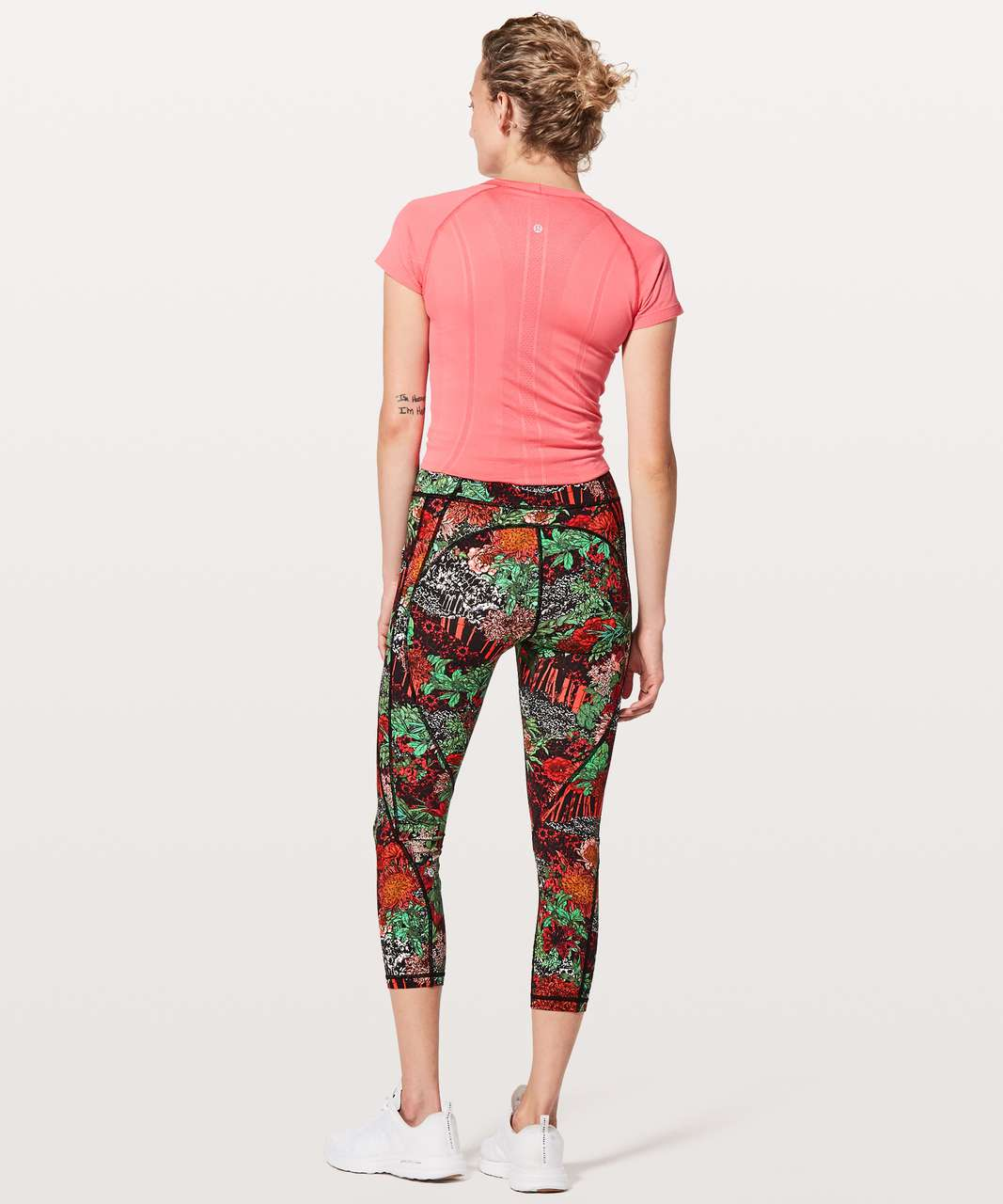 "Lululemon Time To Sweat Crop *23"" - Zen Garden Multi"