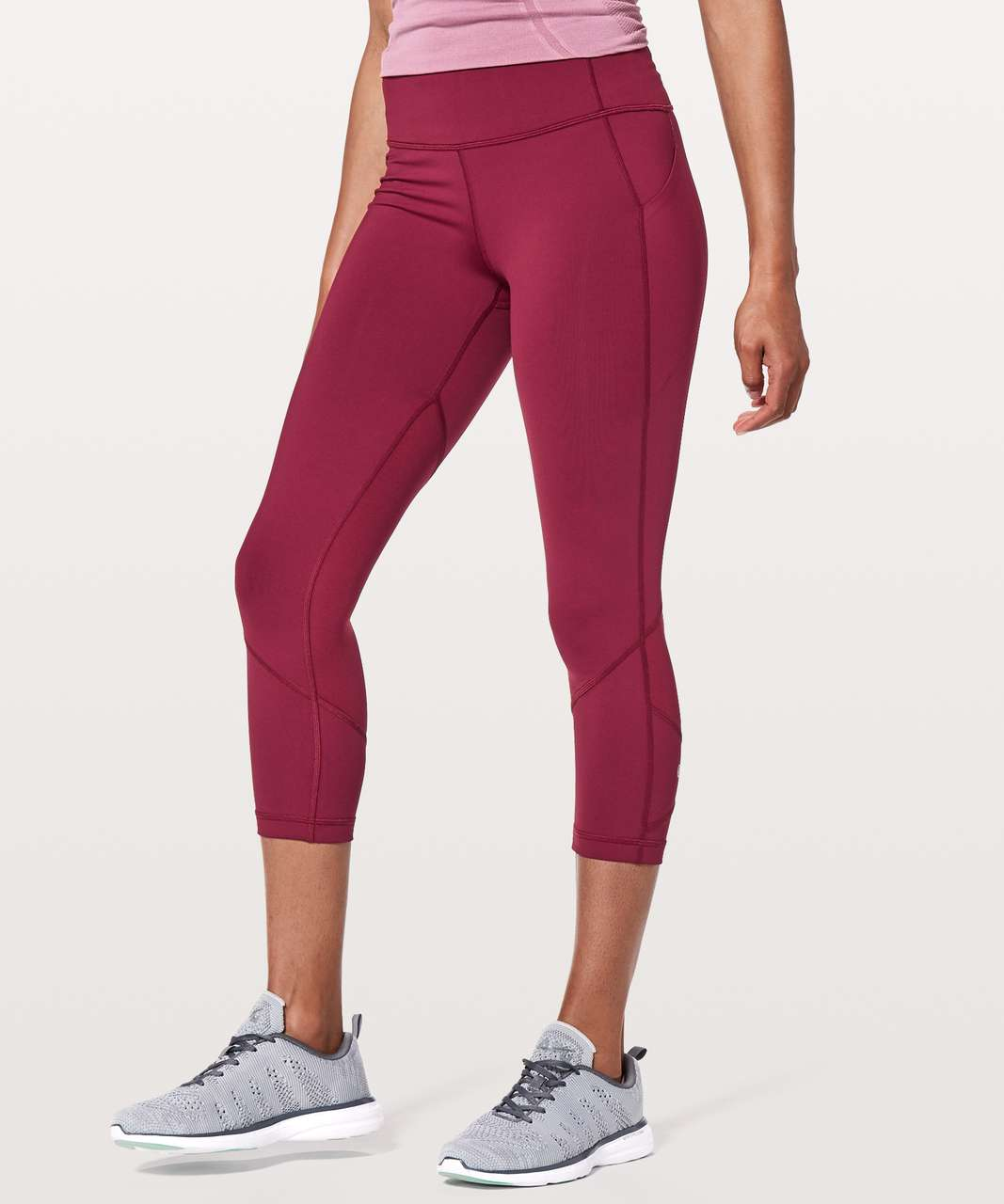 "Lululemon Pace Rival Crop *22"" - Ruby Wine"