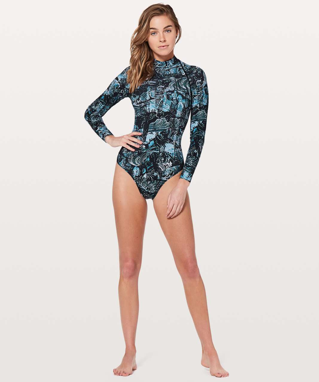 Lululemon Will The Wave Long Sleeve One Piece - Eternal Wave Starlight Black