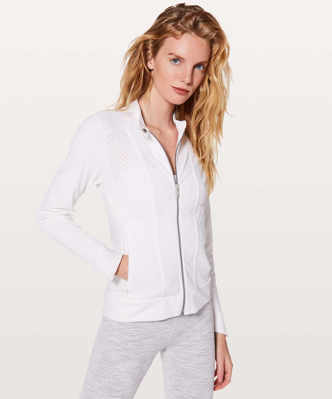 Lululemon Get Your Peek On Jacket - White