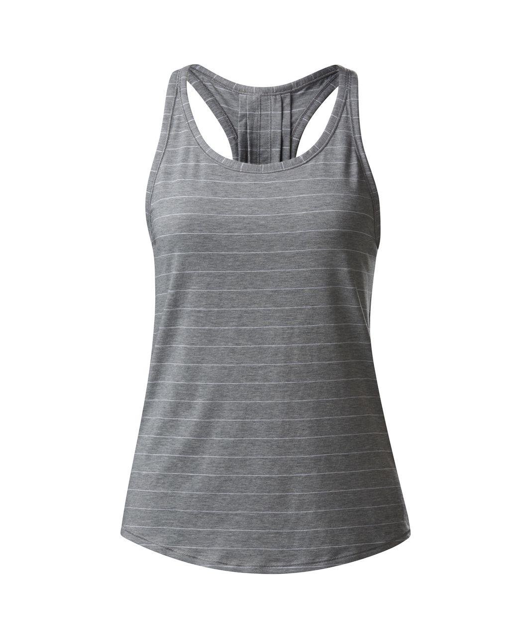Lululemon Yogi Everyday Tank - Short Serve Stripe Heathered Medium Grey White
