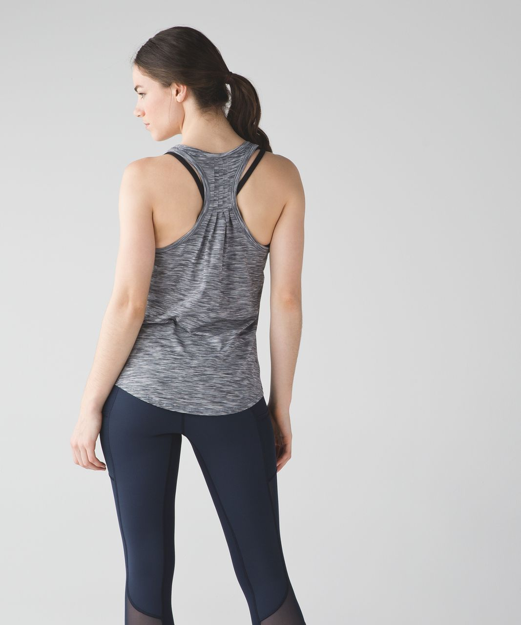 Lululemon Yogi Everyday Tank - 4 Color Space Dye White Black