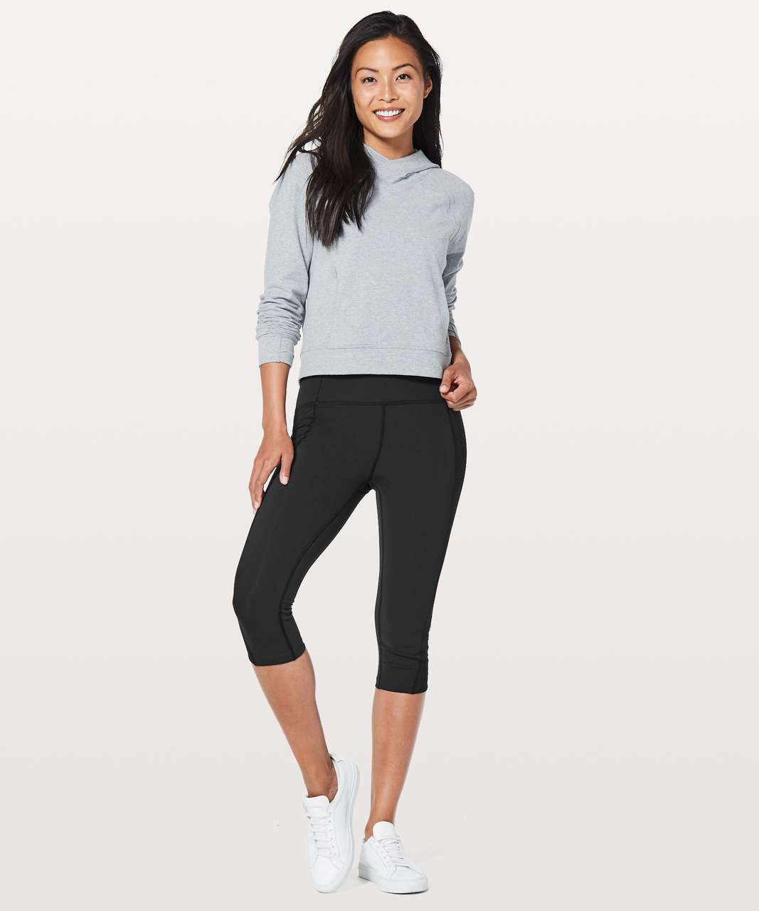 "Lululemon Get Your Peek On Crop *17"" - Black"