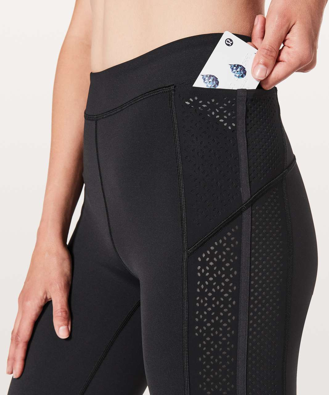 "Lululemon Get Your Peek On Tight *28"" - Black"