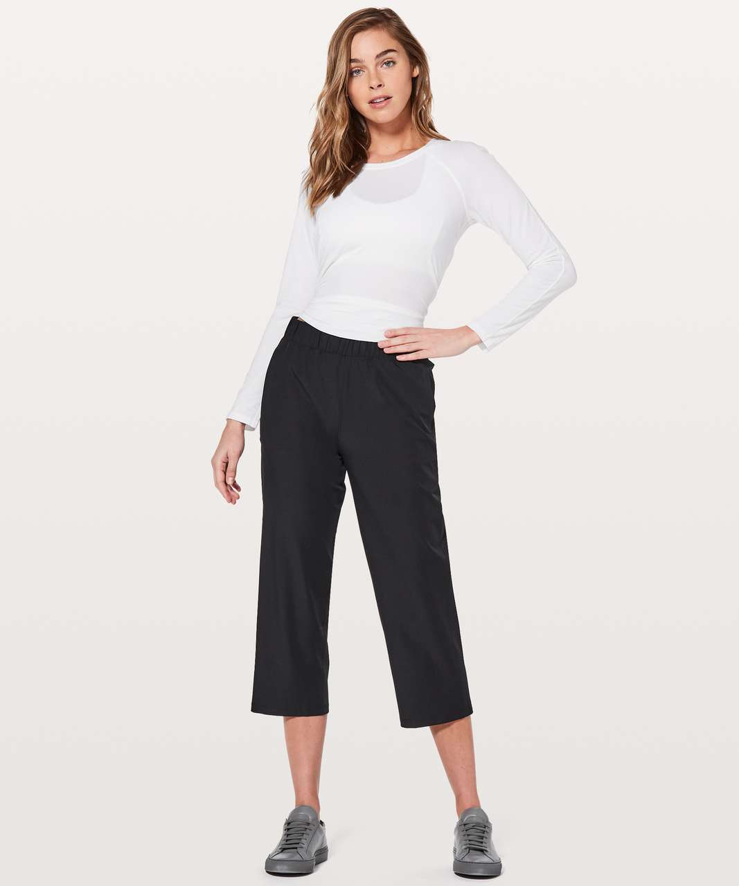 "Lululemon Next Move Crop *23"" - Black"