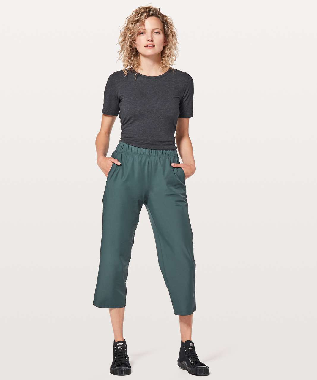 "Lululemon Next Move Crop *23"" - Gravity"