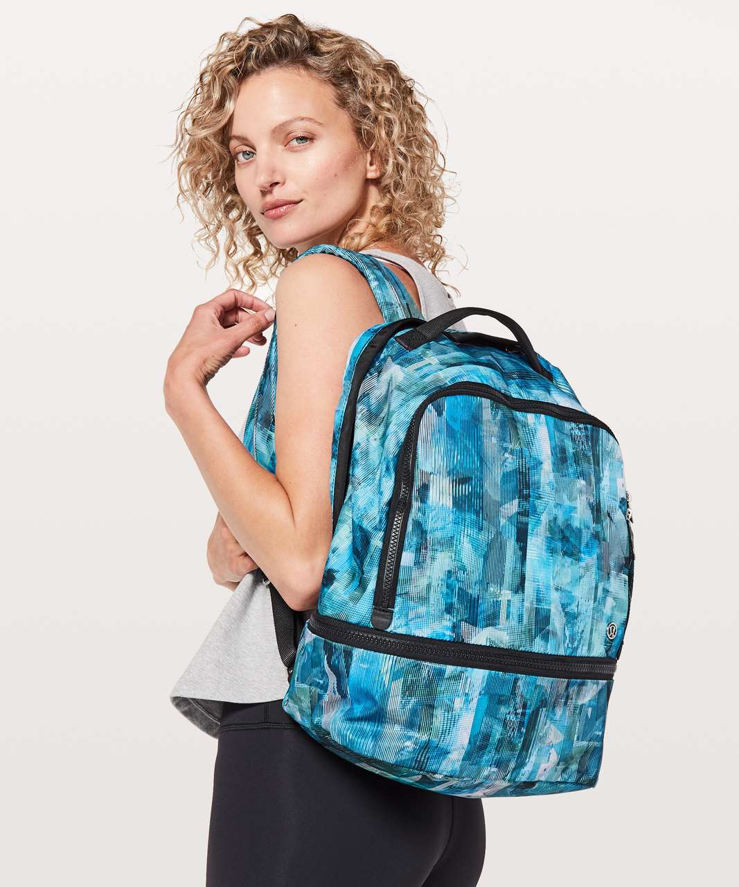 Lululemon City Adventurer Backpack *17L - Sun Dazed Multi Blue / Black