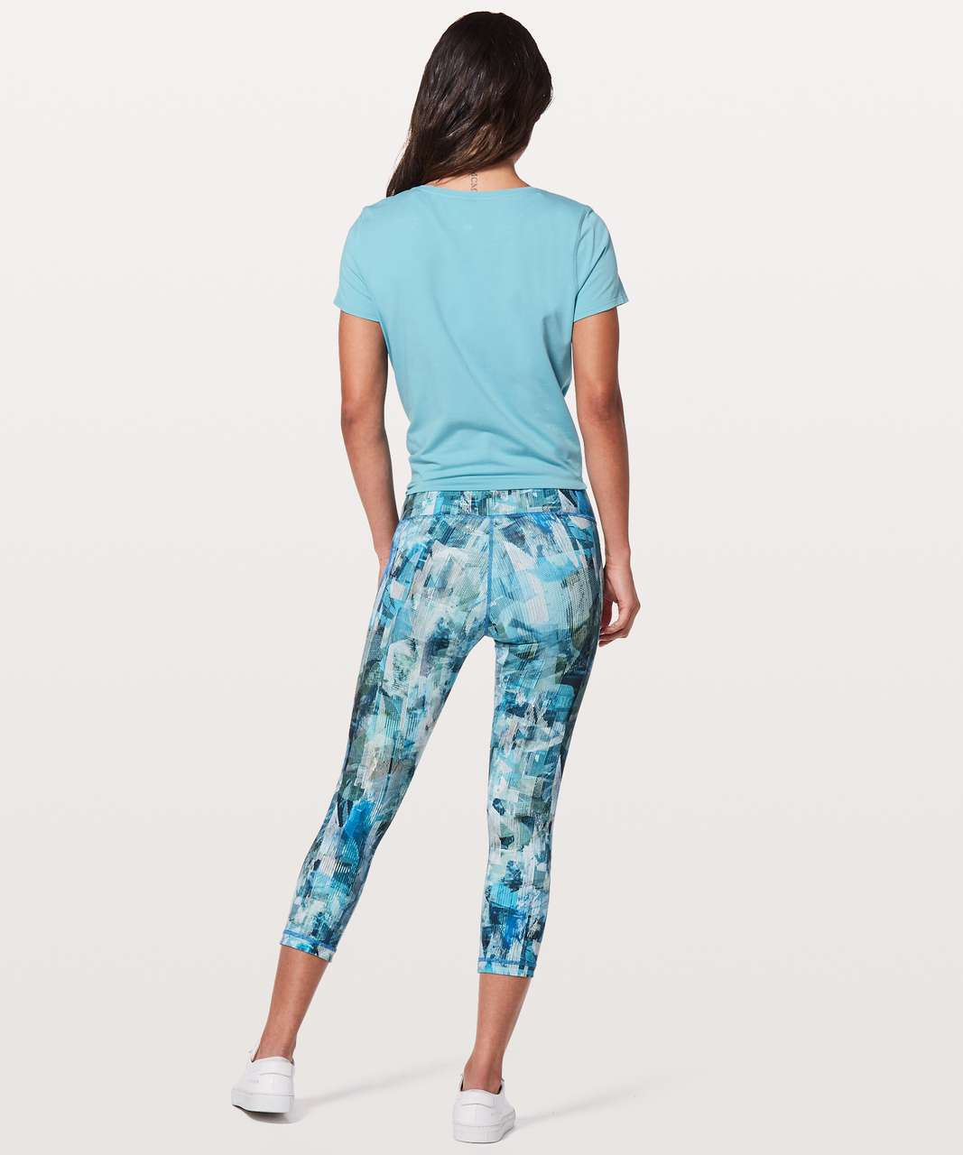 "Lululemon Wunder Under Crop (Hi-Rise) 21"" - Sun Dazed Multi Blue"