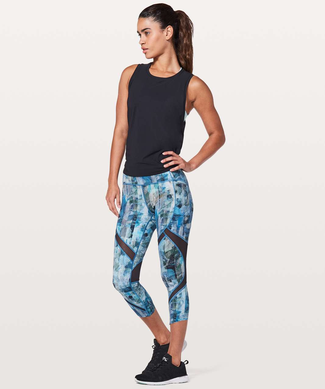 "Lululemon On Pace Crop *21"" - Sun Dazed Multi Blue"