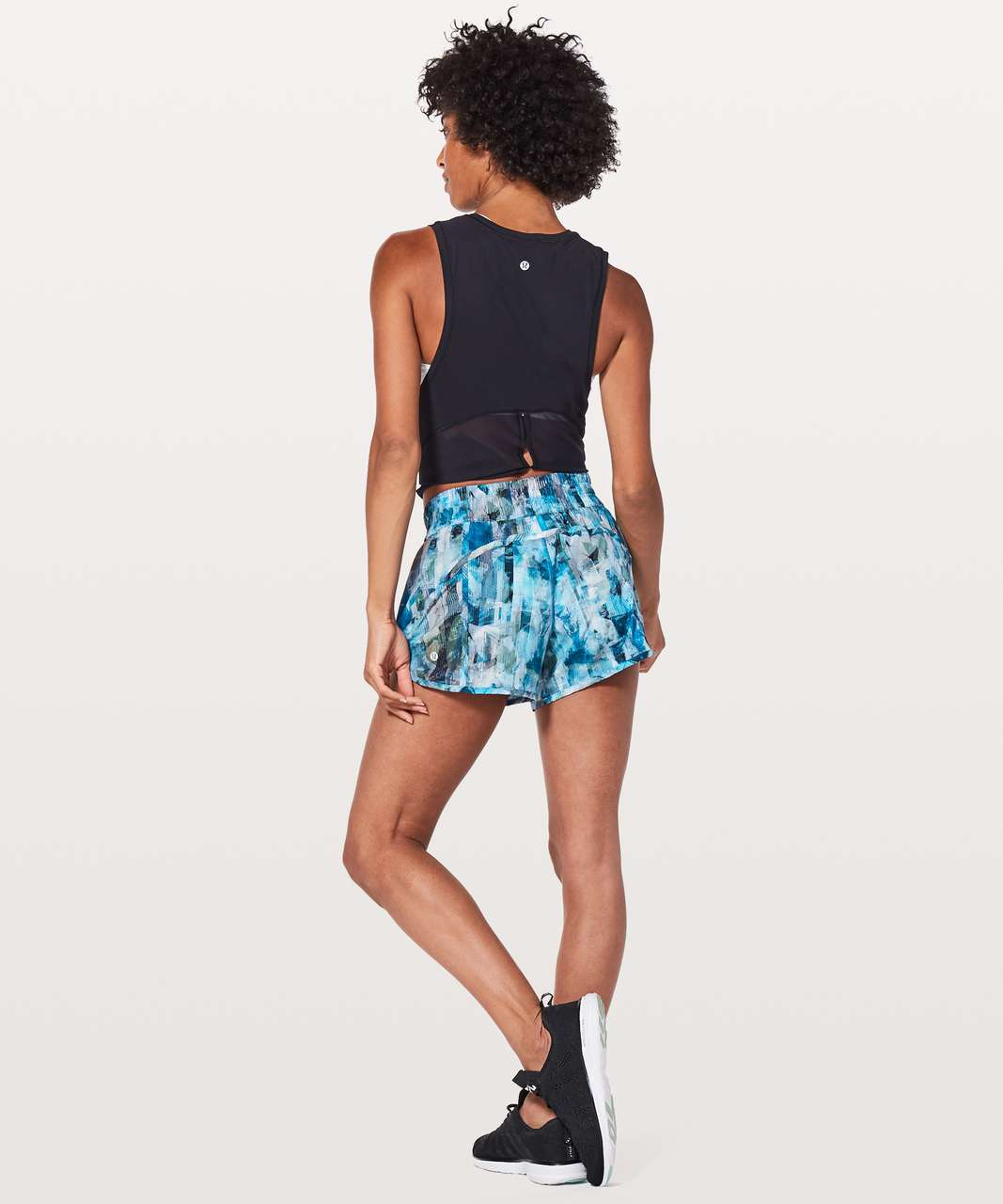 "Lululemon Tracker Short V *4"" - Sun Dazed Multi Blue"