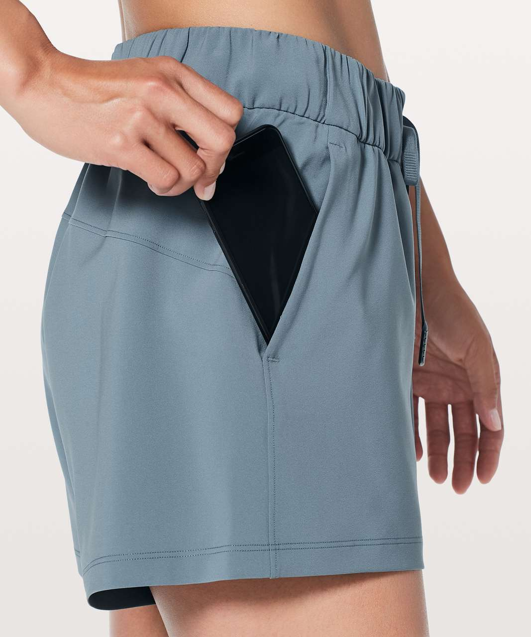 "Lululemon On The Fly Short *Woven *2.5"" - Blue Charcoal"