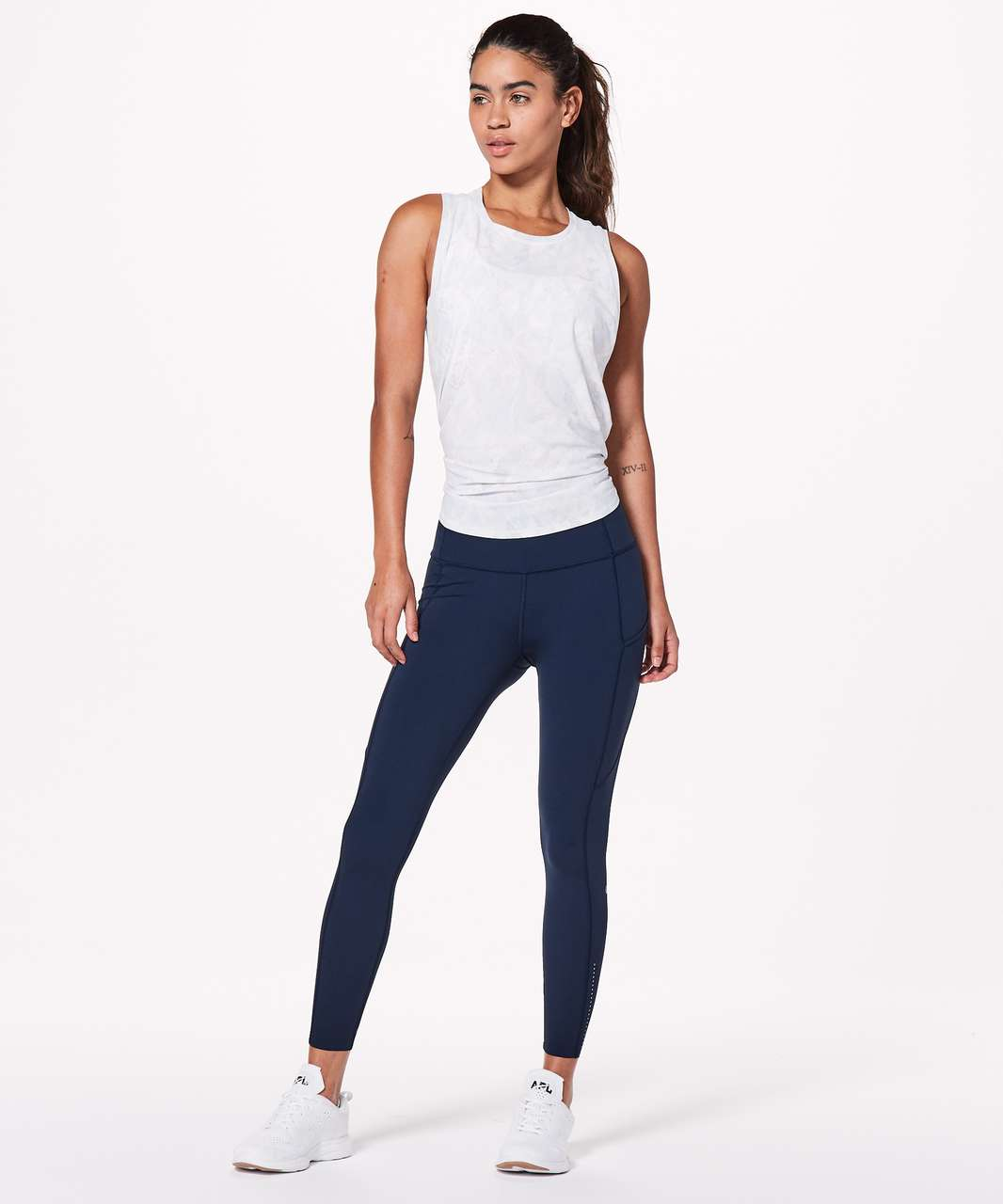 "Lululemon Fast & Free 7/8 Tight II *Nulux 25"" - True Navy (First Release)"