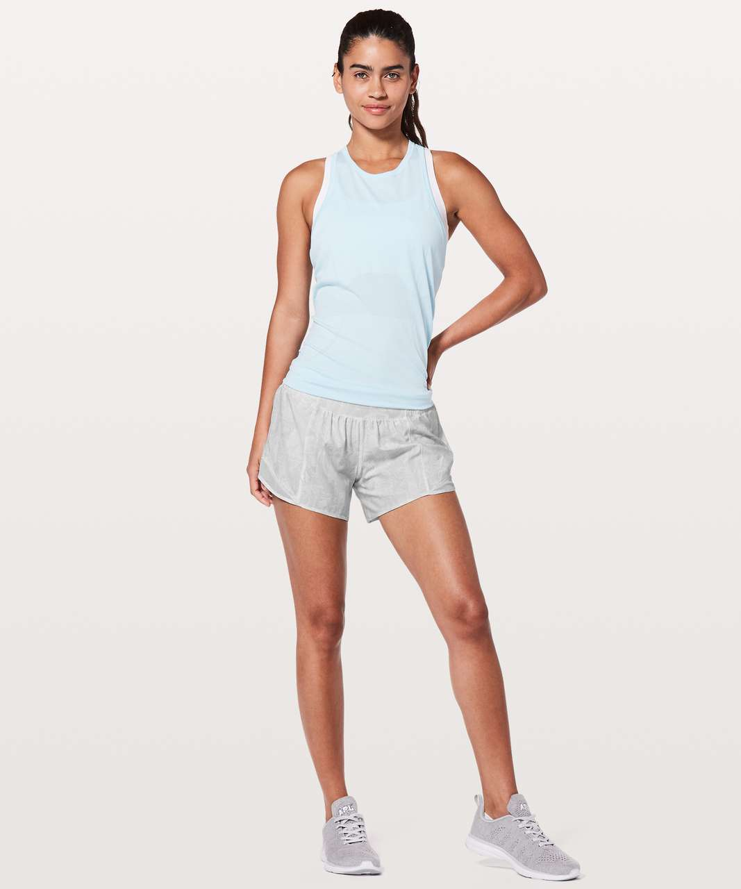 "Lululemon Hotty Hot Short II *Long 4"" - Eternal Wave White / White"