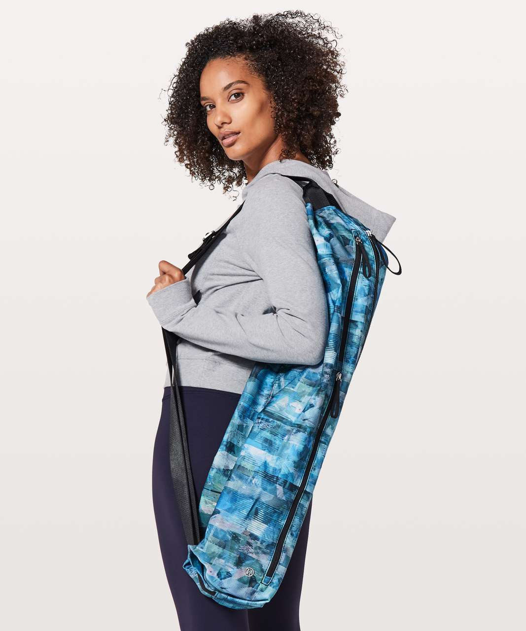 Lululemon The Yoga Bag *14L - Sun Dazed Multi Blue / Black