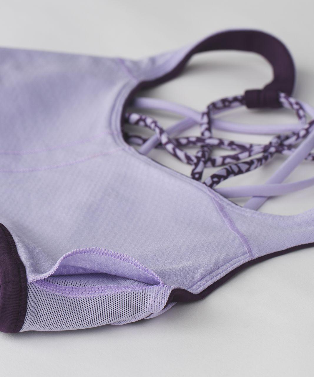 Lululemon Free To Be Bra (Wild) - Deep Zinfandel / Lilac / Miss Mosaic Lilac Deep Zinfandel