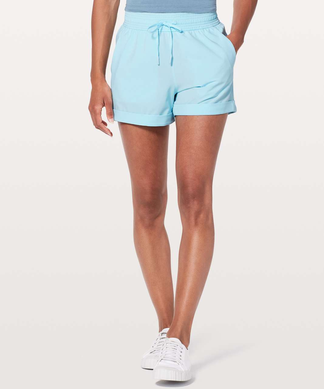 "Lululemon Spring Break Away Short *4-way Stretch 3"" - Blue Glow"