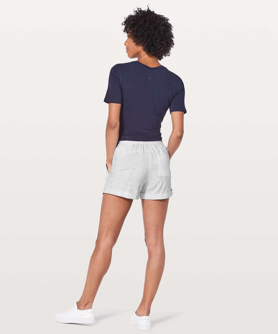 "Lululemon Spring Break Away Short *4-way Stretch 3"" - Eternal Wave White"