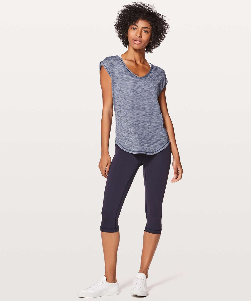 Lululemon Sweat Times Short Sleeve - Heathered Dazed