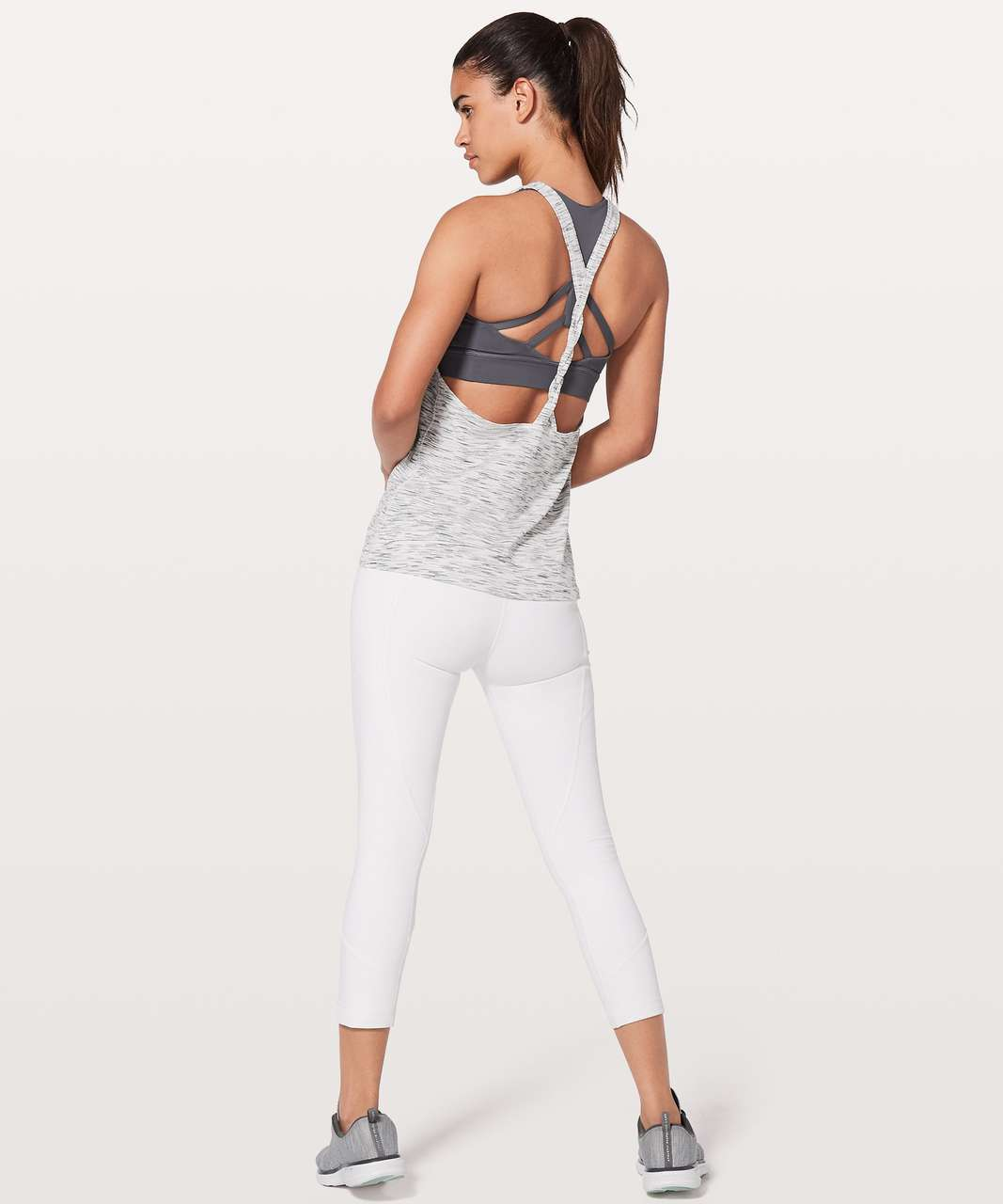 Lululemon Twist & Toil Tank - Tiger Space Dye Black White / Nebula