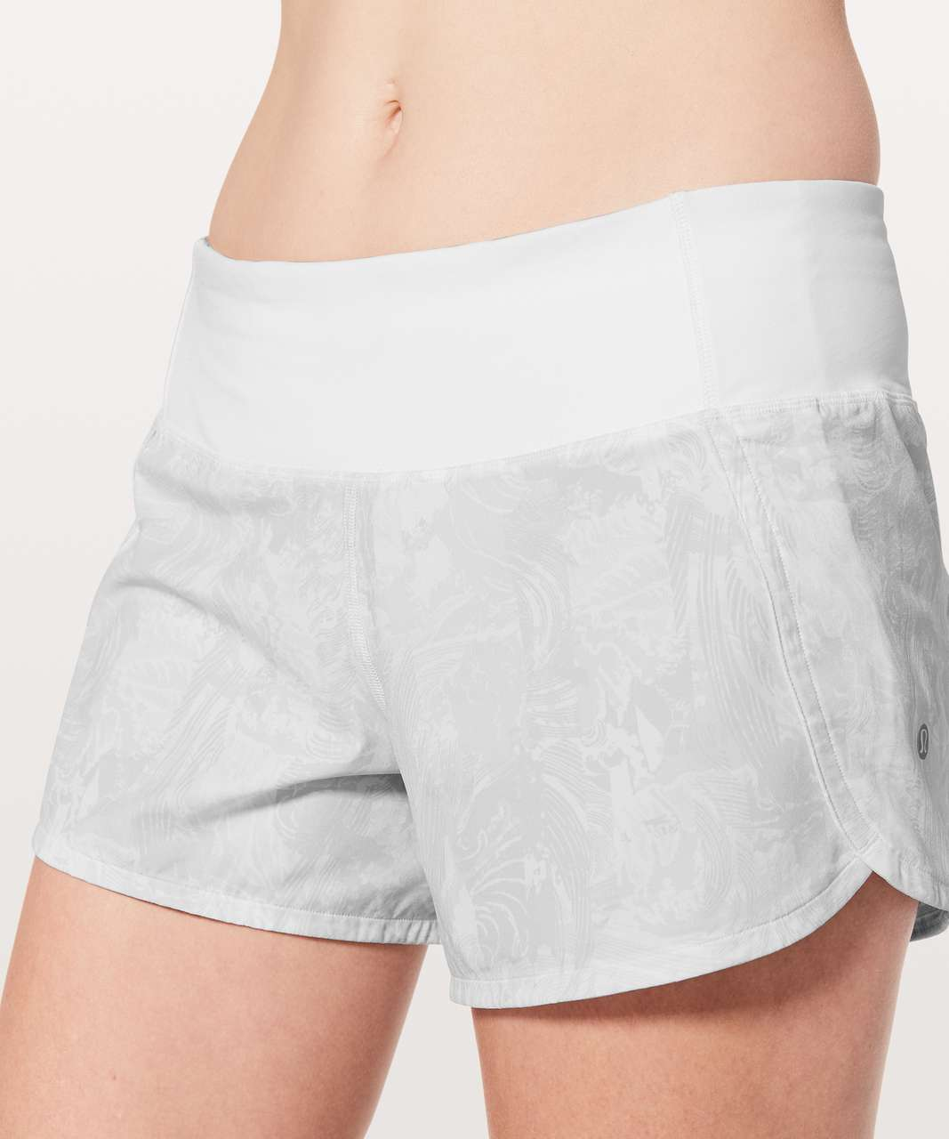 "Lululemon Run Times Short II *4"" - Eternal Wave White / White"