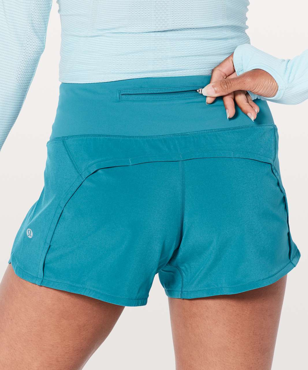 "Lululemon Run Times Short II *4"" - Teal Blue"