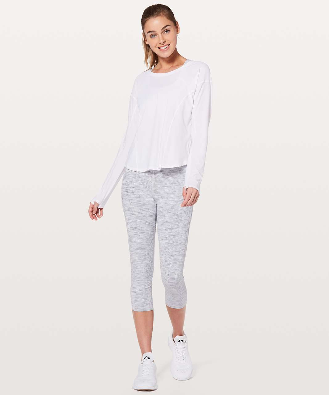 Lululemon On Pace Long Sleeve - White