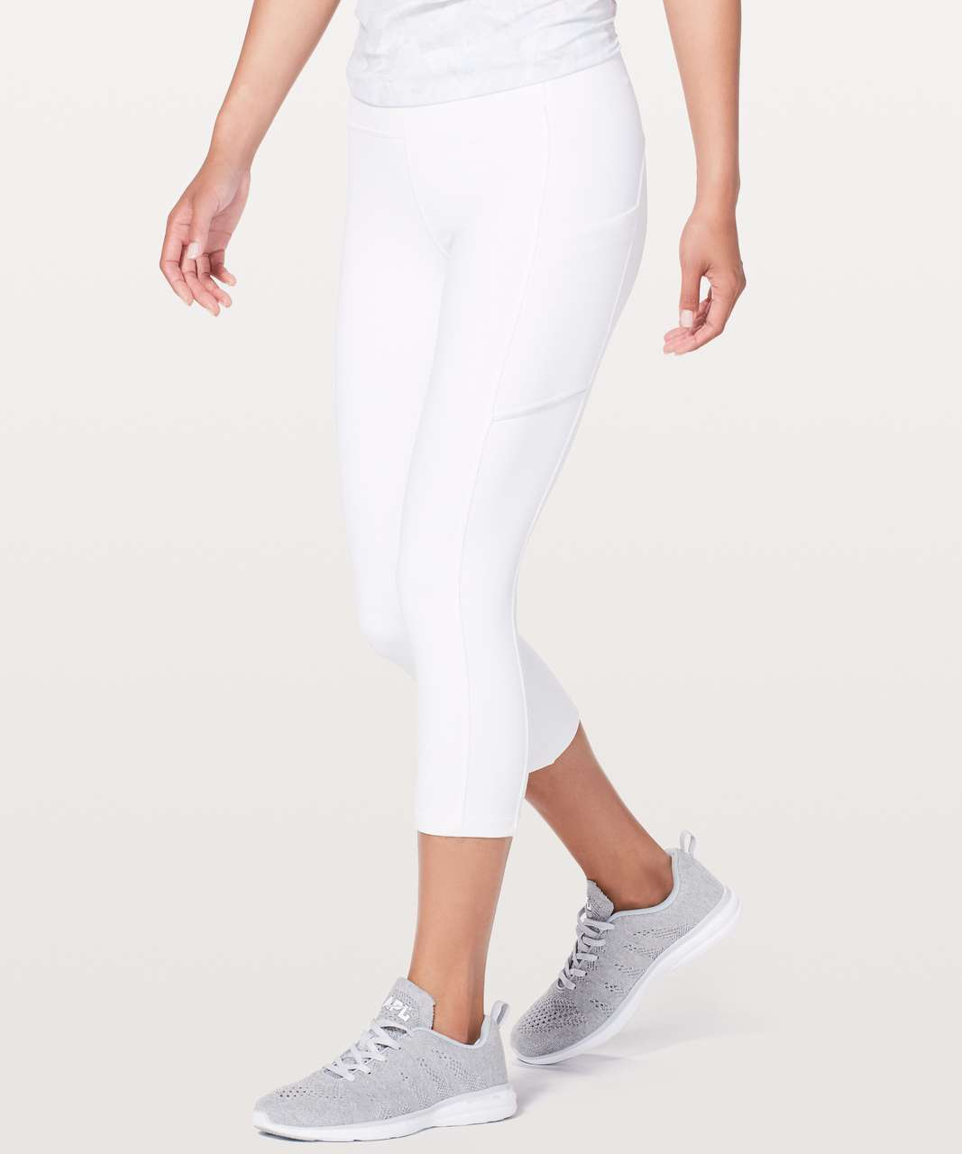 "Lululemon Speed Up Crop *21"" - White (First Release)"