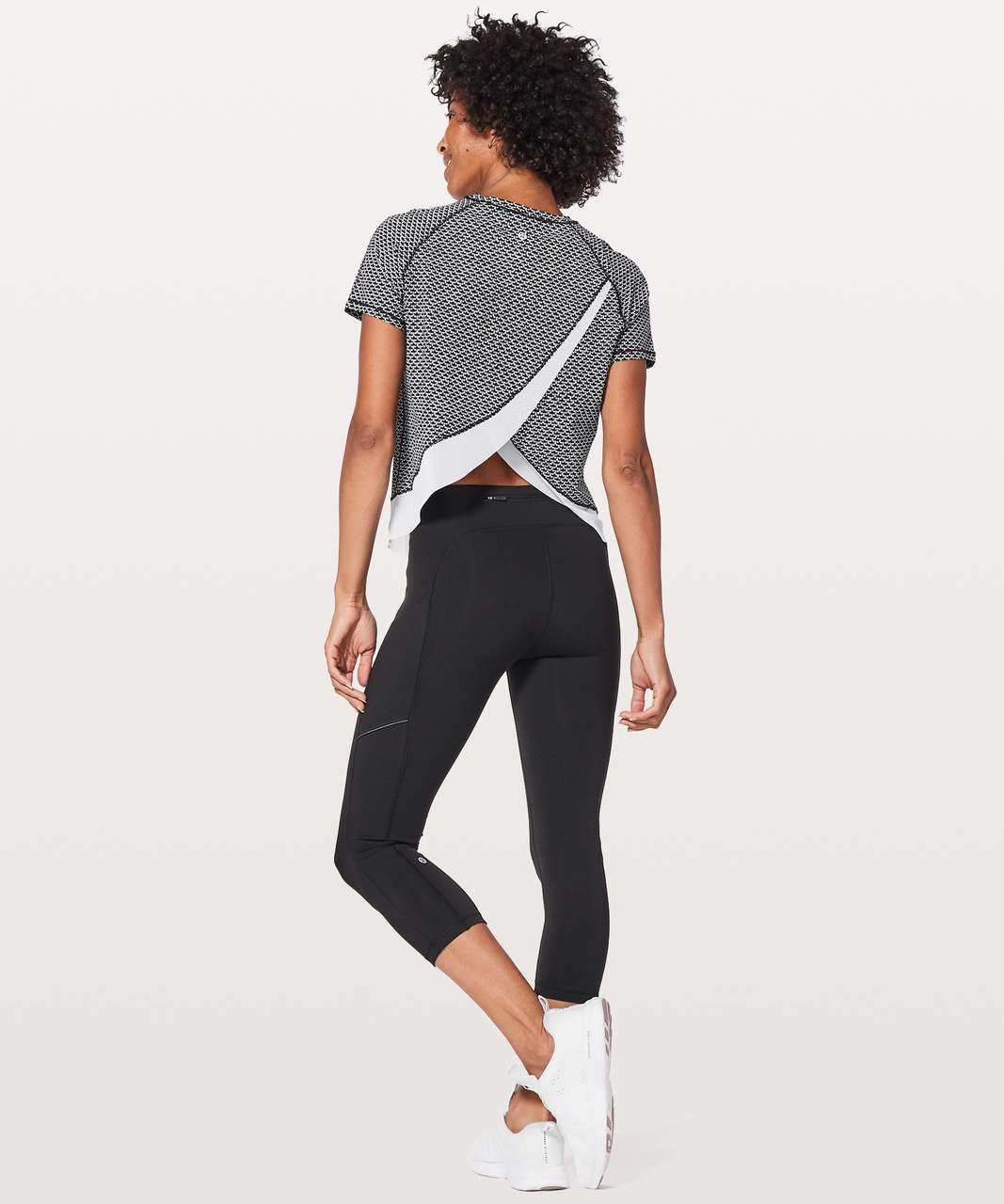 Lululemon Quick Pace Short Sleeve - Monochromic Black / White