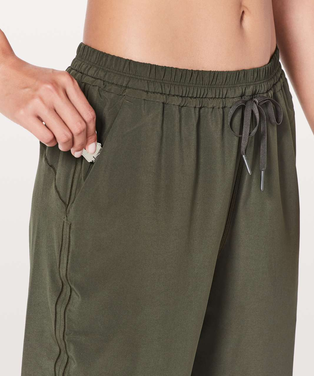 "Lululemon Keep It Classic Crop *23"" - Dark Olive"