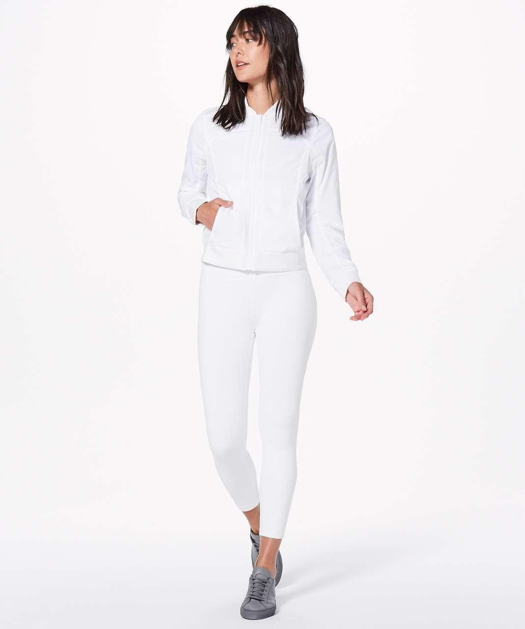Lululemon Bomb Around Jacket *Reversible - White / Eternal Wave White