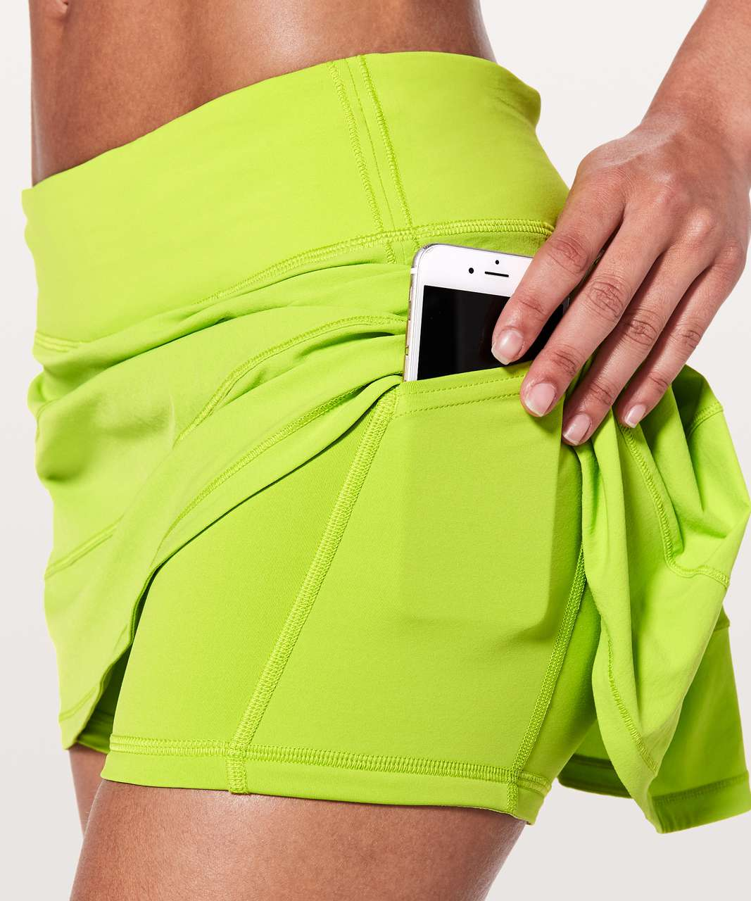 "Lululemon Pace Rival Skirt (Regular) *4-way Stretch 13"" - Lucid Lime"