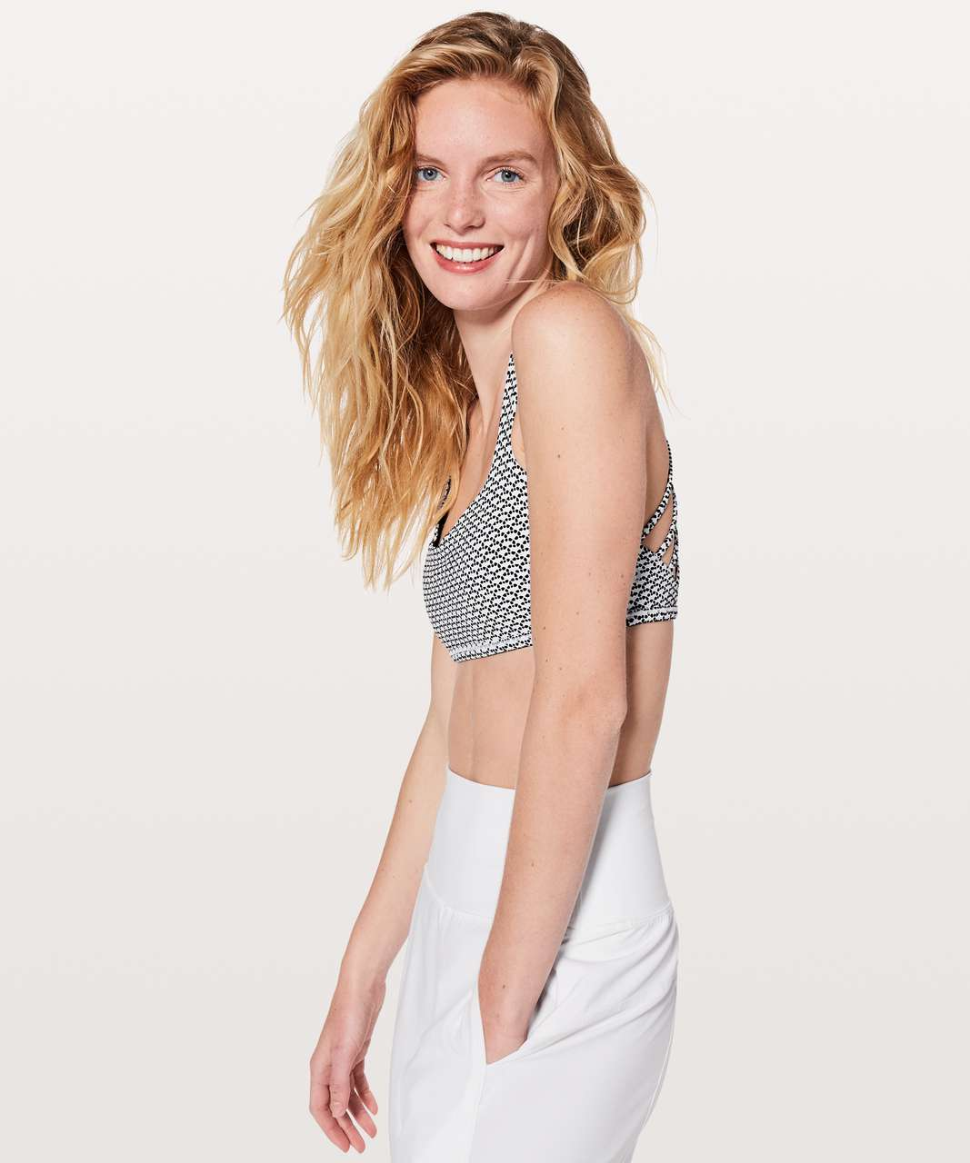 Lululemon Free To Be Bra (Wild) - Monochromic White