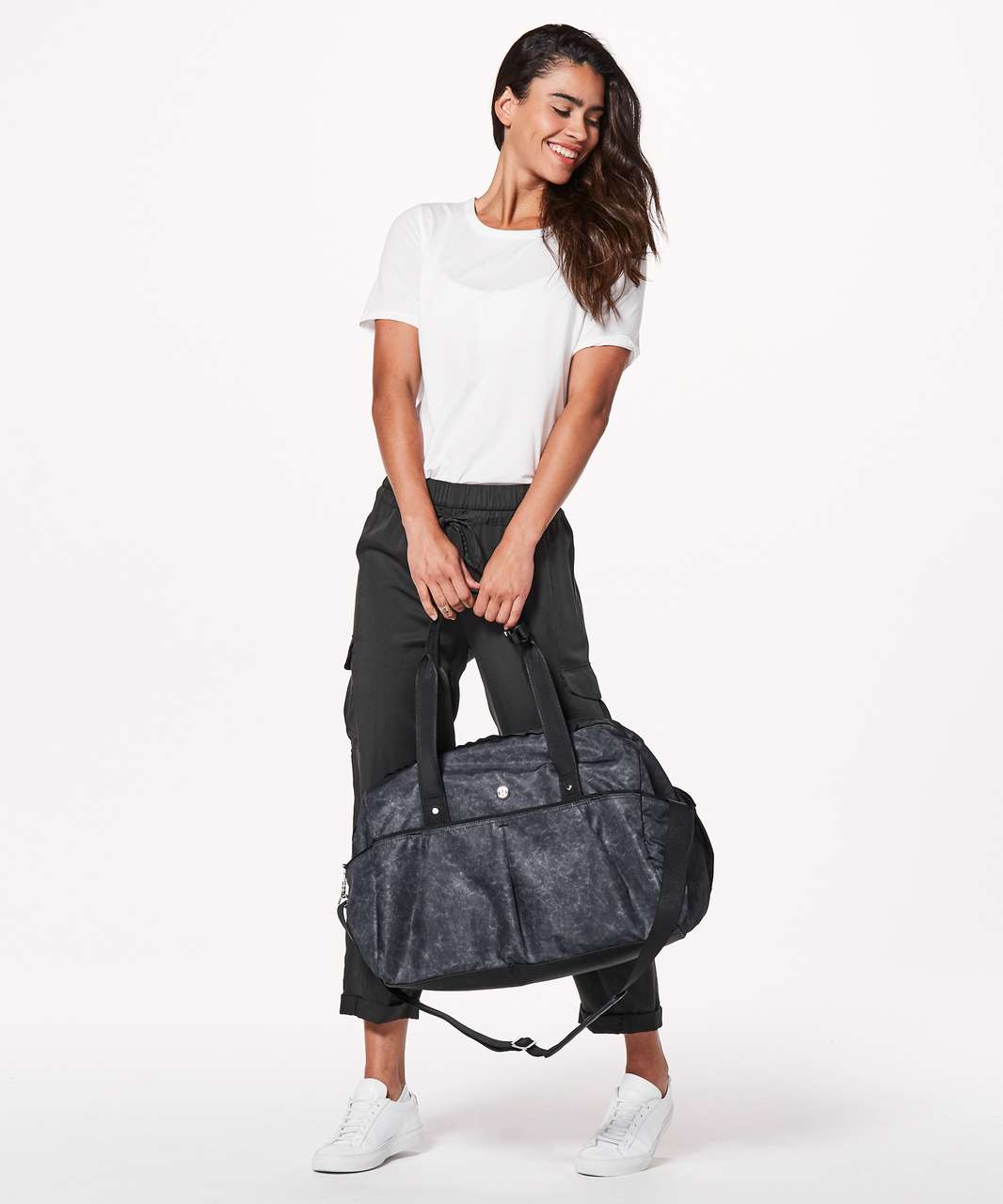 Lululemon All Day Duffel *Heatproof Pocket 31L - Gravel Dust Ice Grey Nebula / Black