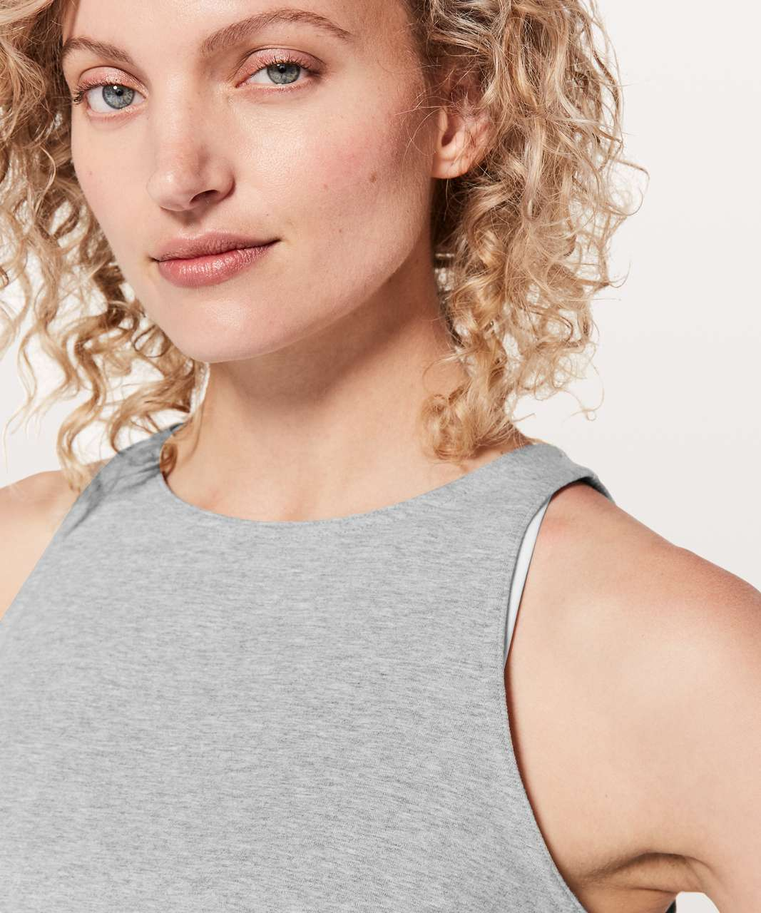 Lululemon Blissed Out Tank - Heathered Core Light Grey