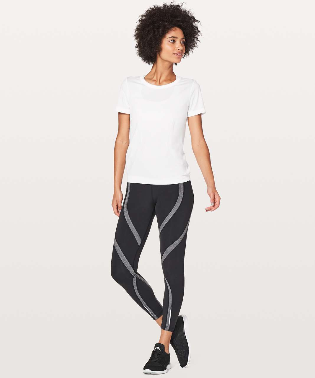 Lululemon Swiftly Tech Short Sleeve (Breeze) *Relaxed Fit - White / White