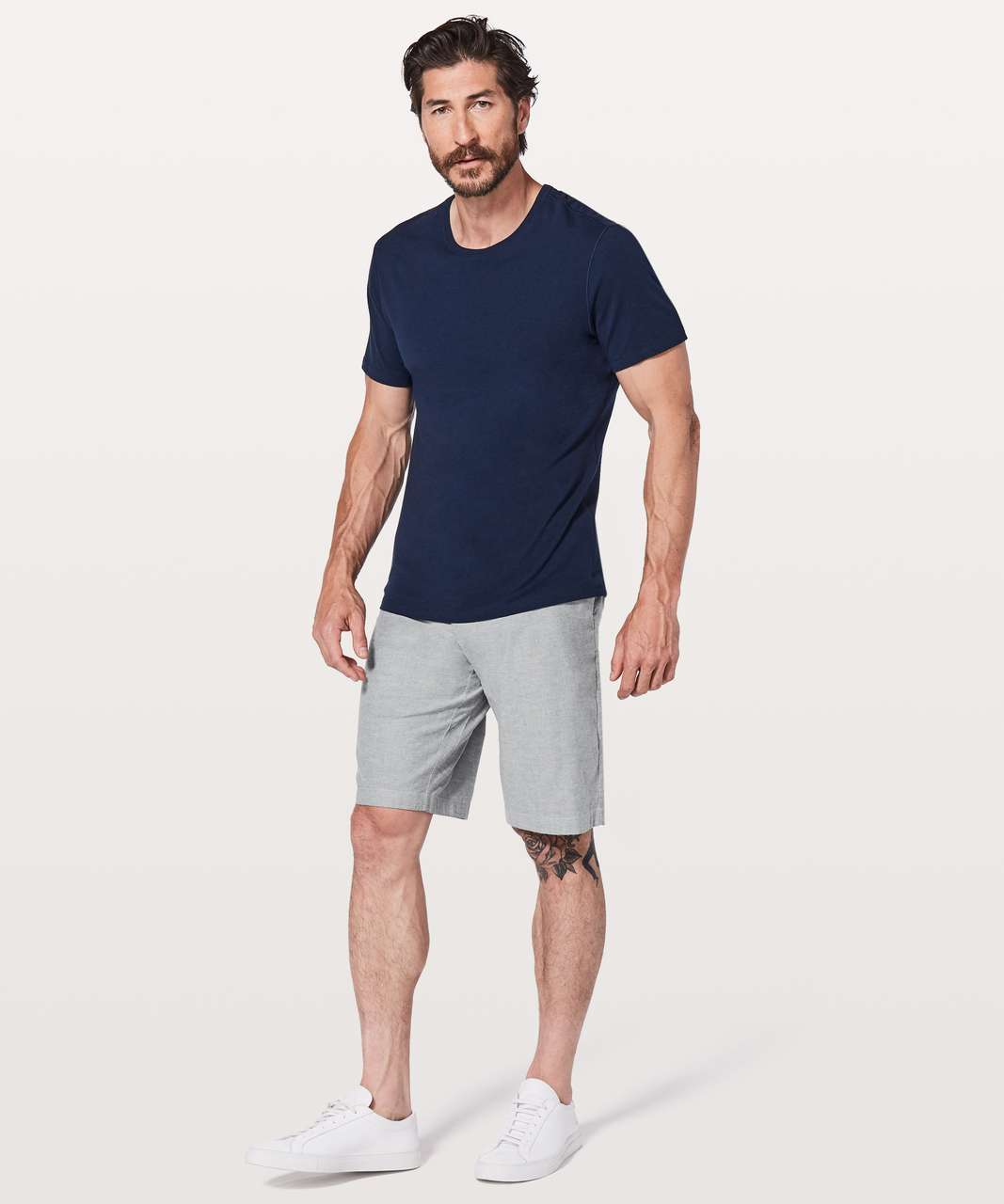 """Lululemon Commission Short Relaxed *Qwick Oxford 11"""" - Black / White"""