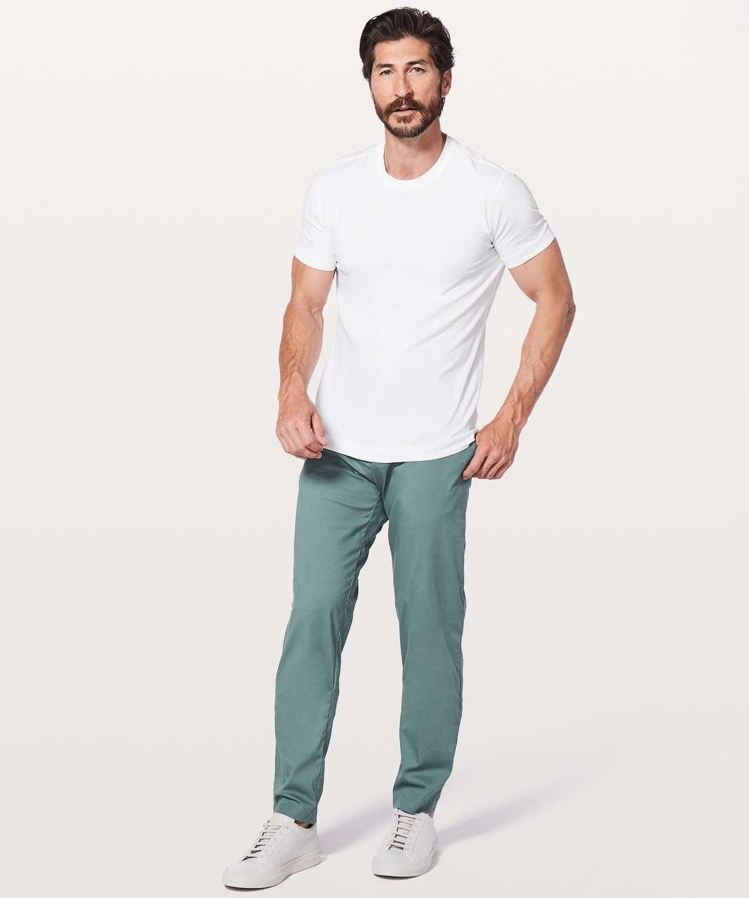 "Lululemon Commission Pant Classic *Swift Cotton 34"" - Mystic Green"