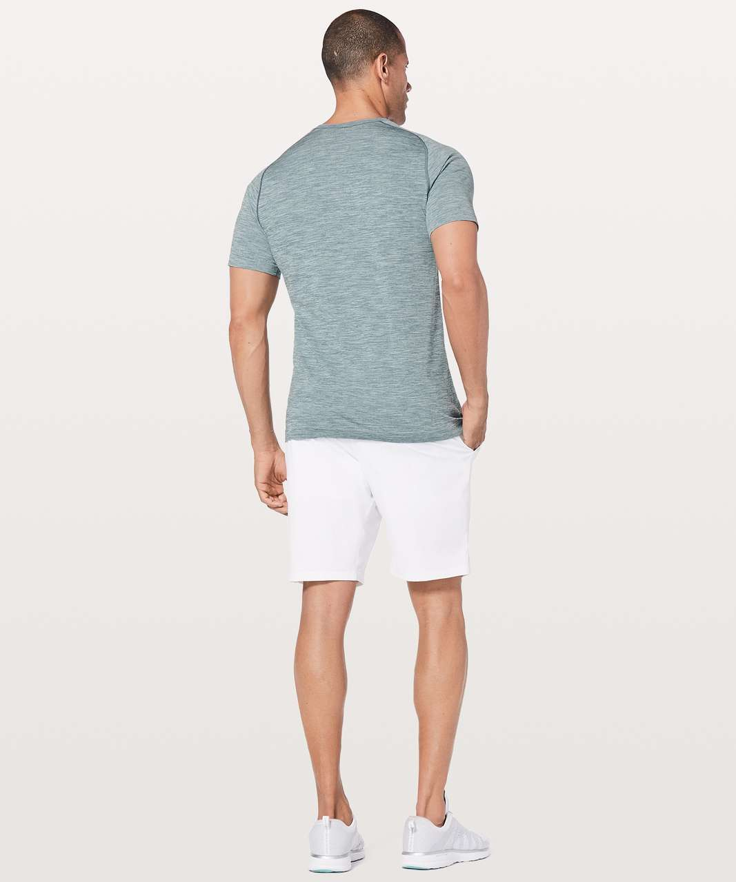 Lululemon Metal Vent Tech Surge Short Sleeve - Mystic Green / White