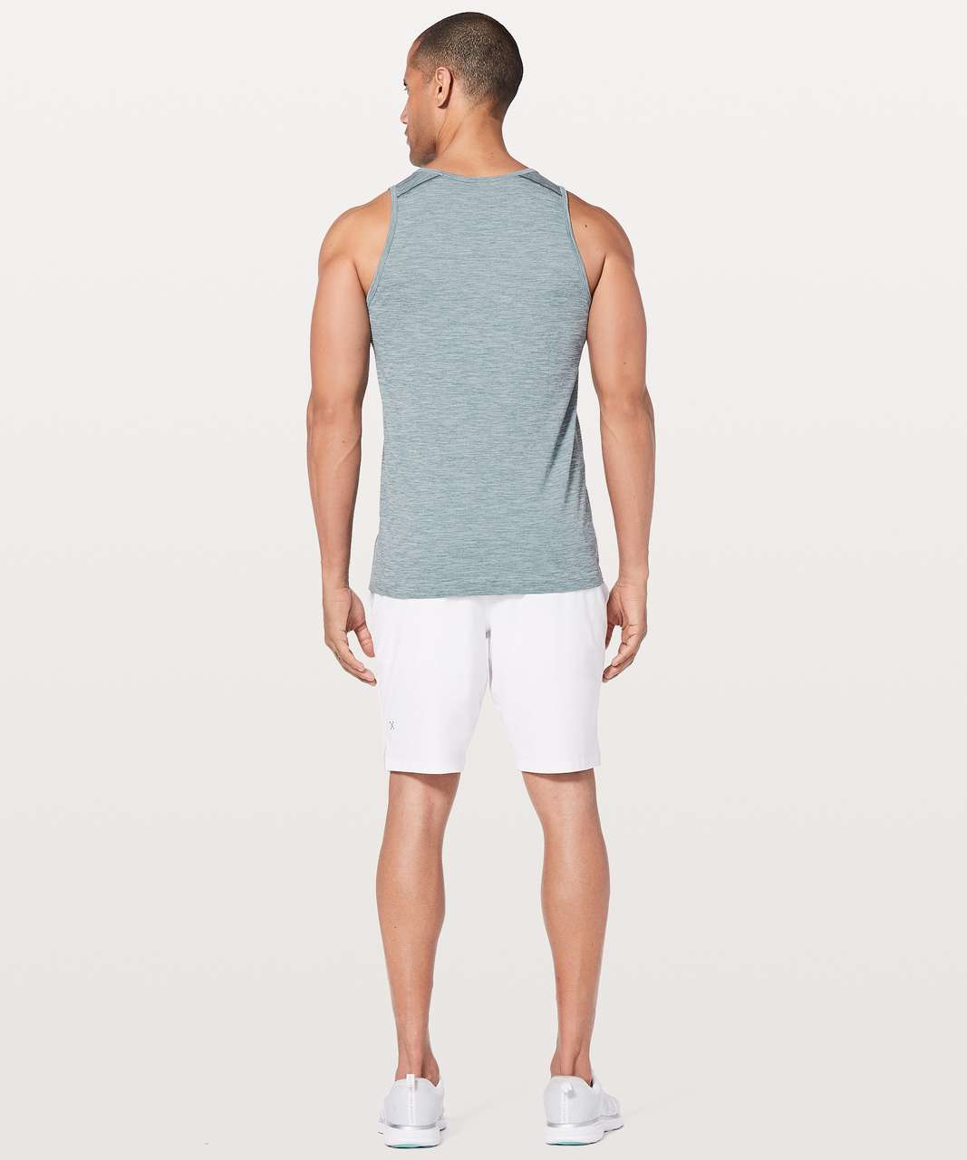 Lululemon Metal Vent Tech Surge Tank - Mystic Green / White