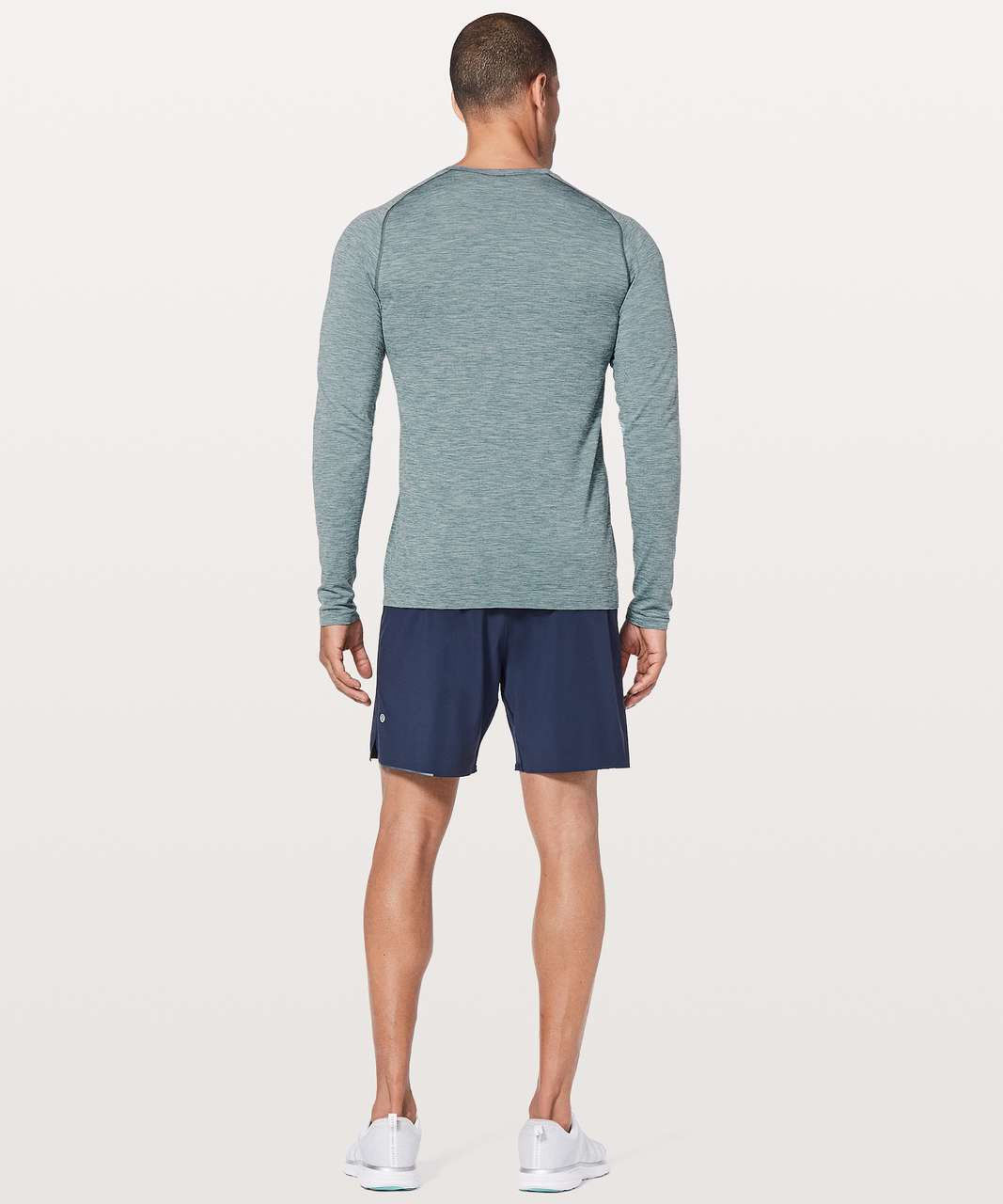 Lululemon Metal Vent Tech Surge Long Sleeve - Mystic Green / White