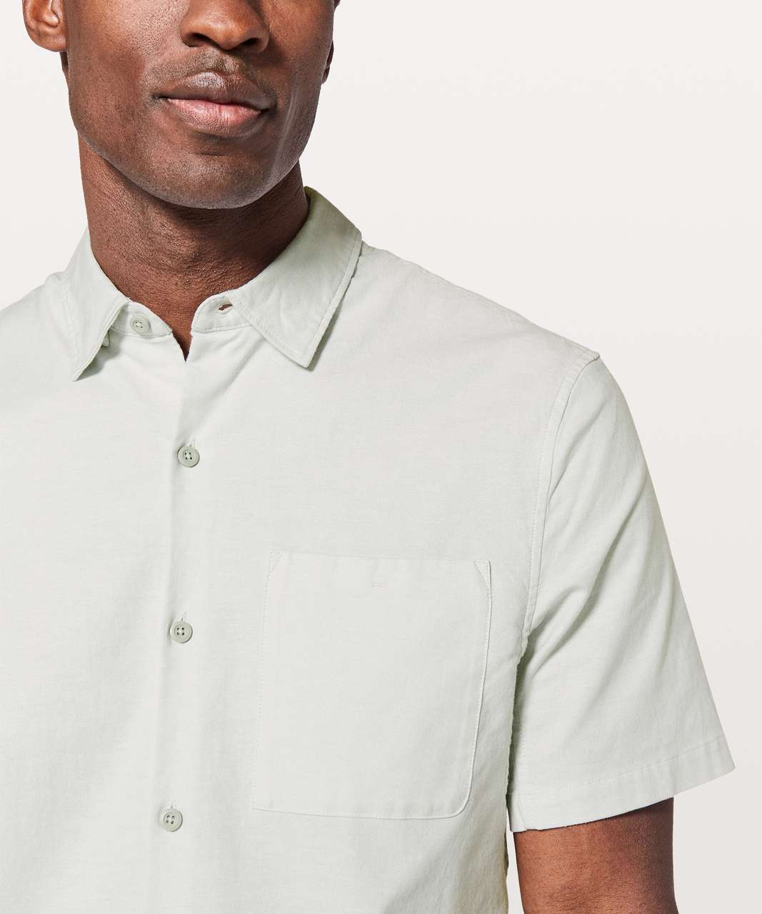 Lululemon All Town Short Sleeve Buttondown - Sea Salt / White