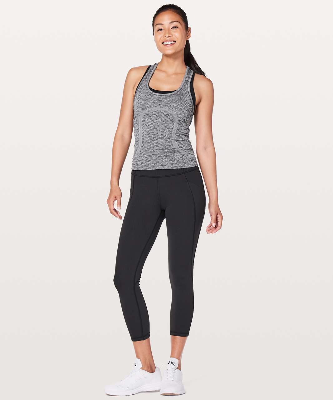 "Lululemon Time To Sweat Crop *23"" - Black (First Release)"
