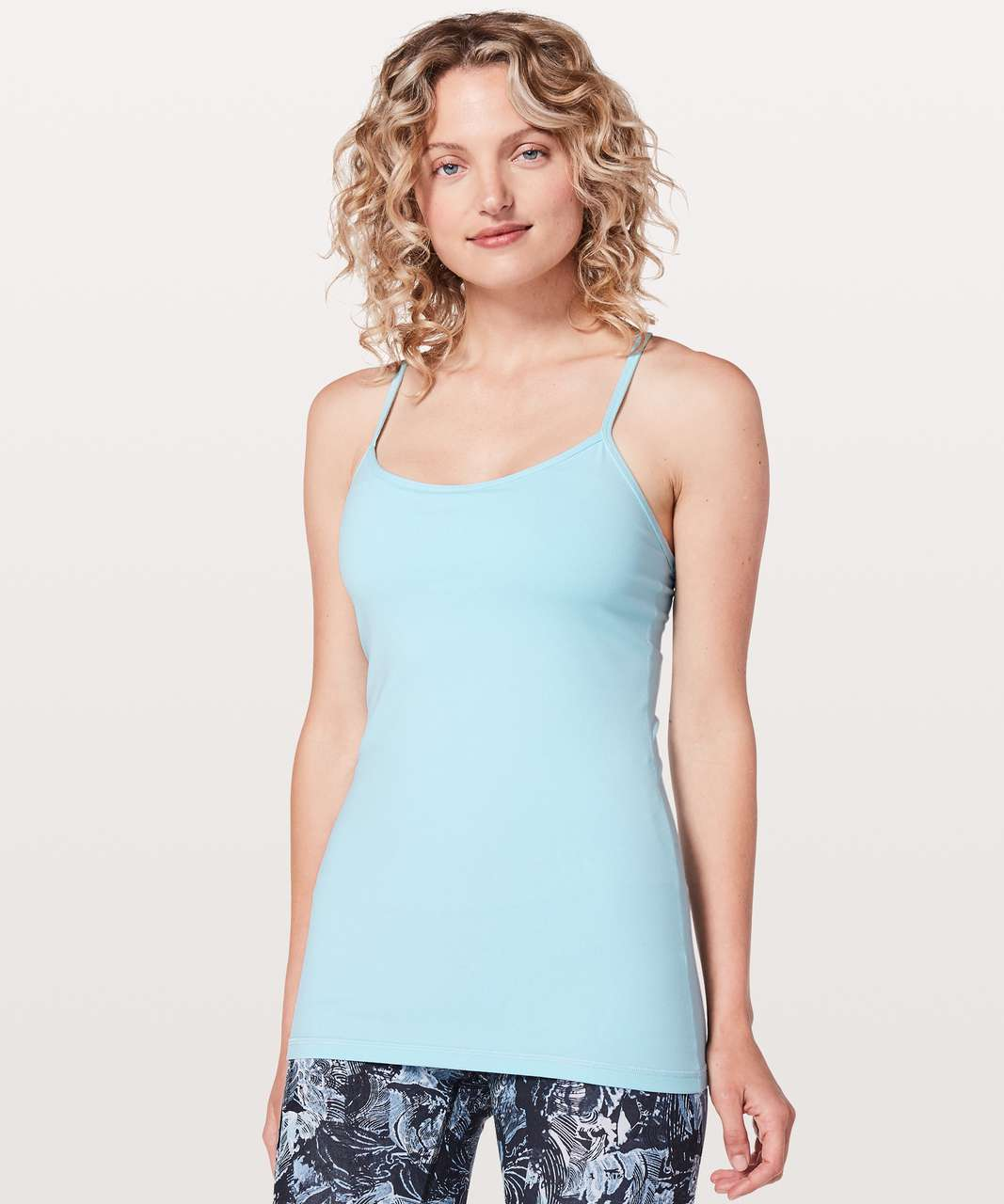 8f471fed7a352 Lululemon Power Y Tank  Luon - Blue Glow - lulu fanatics
