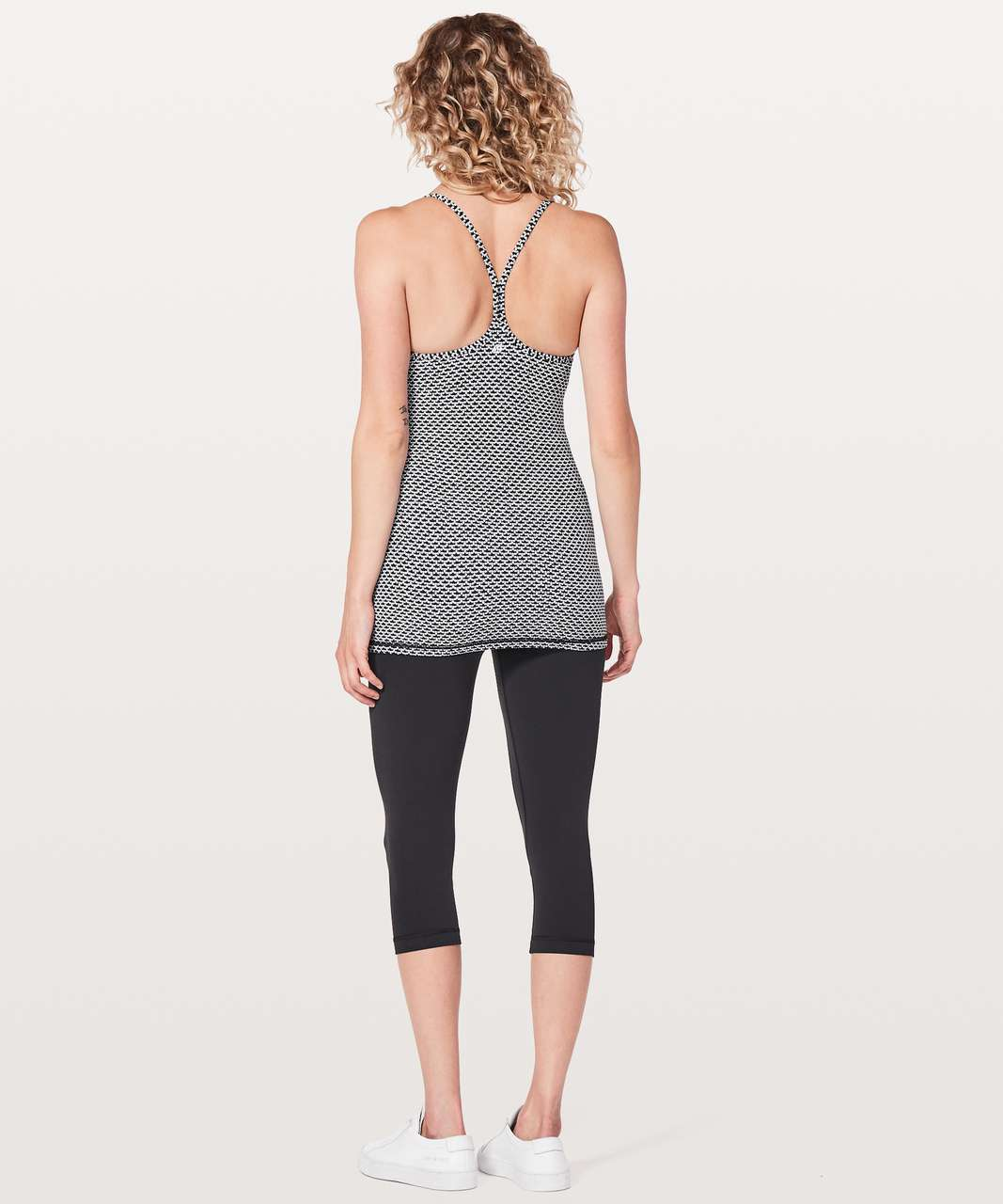 Lululemon Power Y Tank *Luon - Monochromic Black