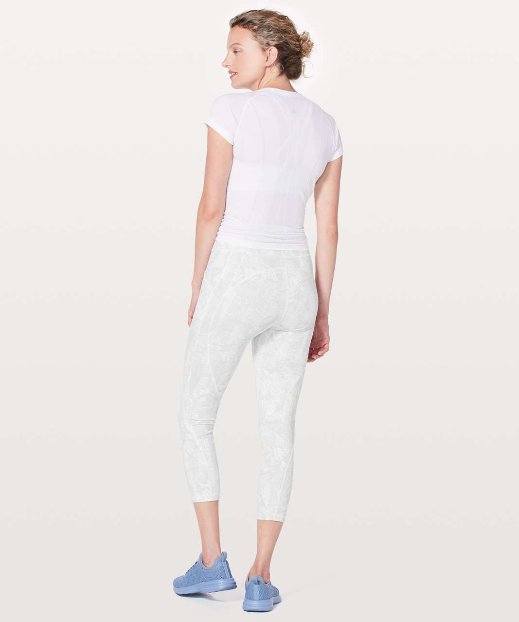 "Lululemon Time To Sweat Crop *23"" - Eternal Wave White"