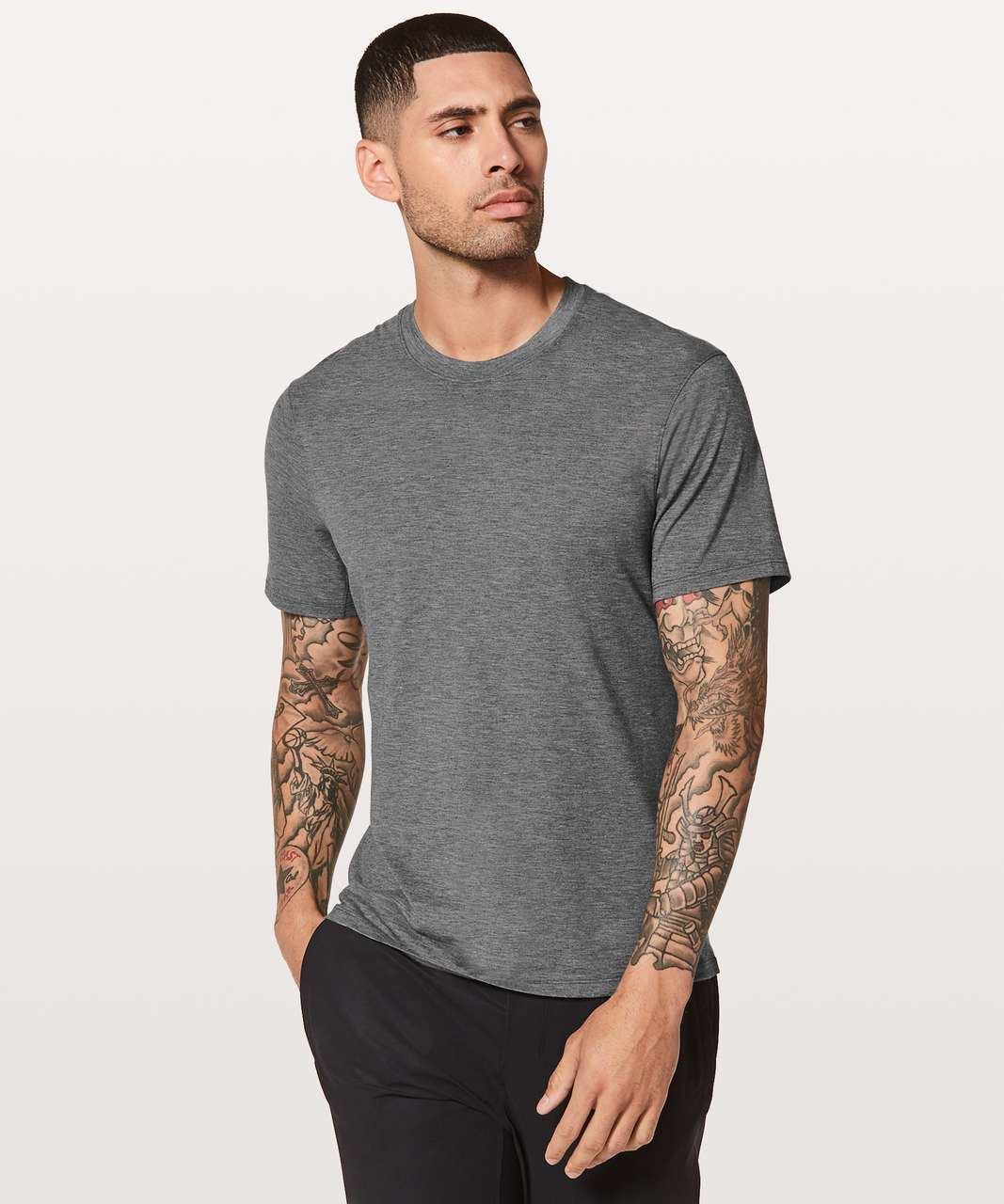 Lululemon Somatic Aero Short Sleeve - Heathered Black