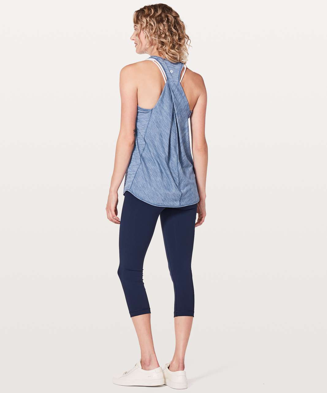 Lululemon Essential Tank - Heathered Brilliant Blue