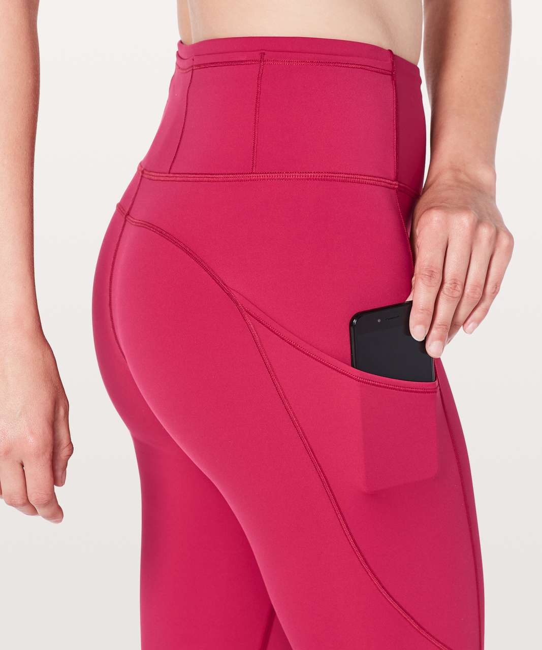 "Lululemon Fast & Free 7/8 Tight II *Nulux 25"" - Ruby Red"