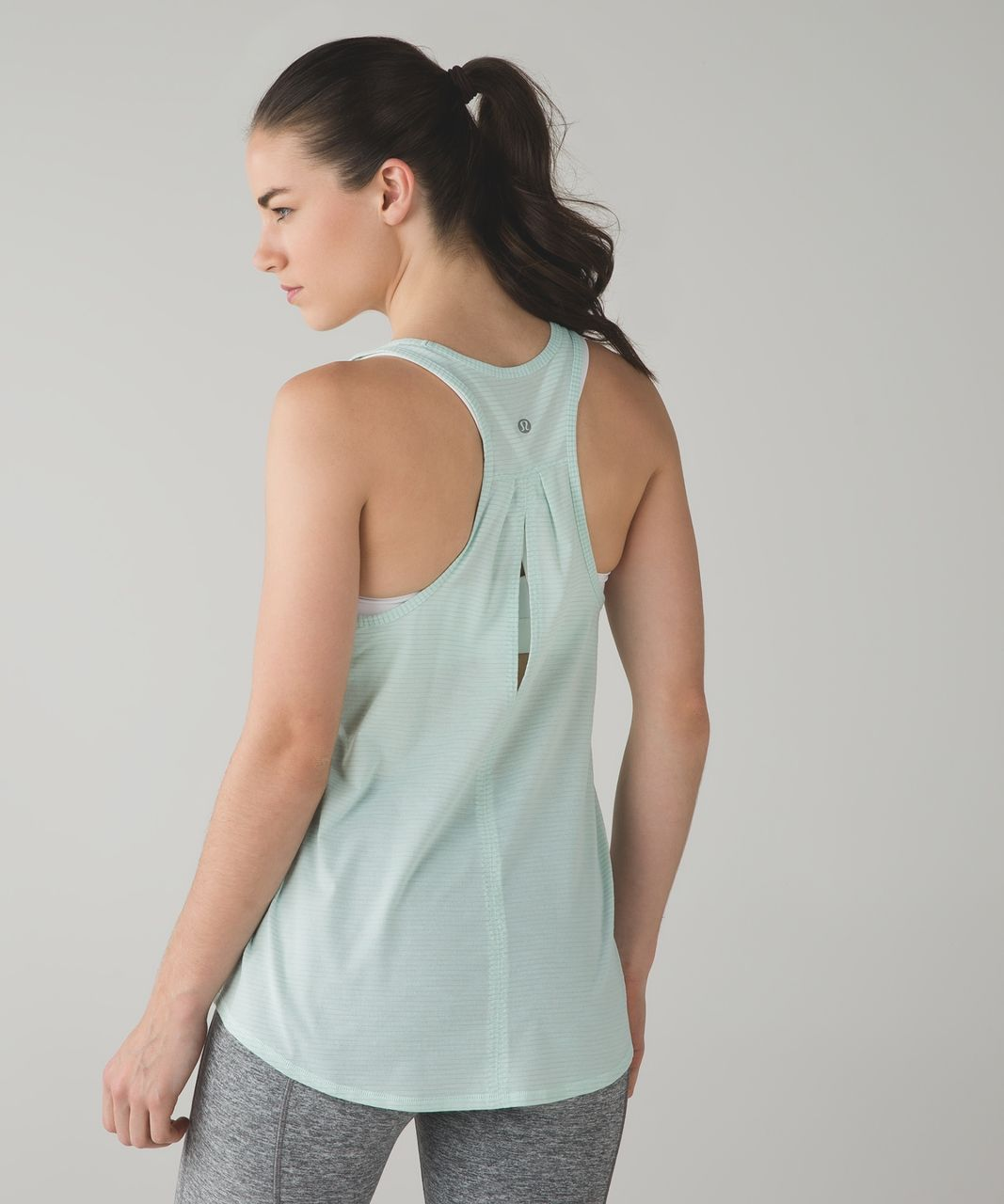 Lululemon Salute the Sun Singlet II - Heathered Sea Mist